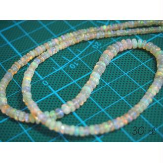 20 Perles Rondelles d'opale de Feu / opales Welo / opales d'Éthiopie 30 cts