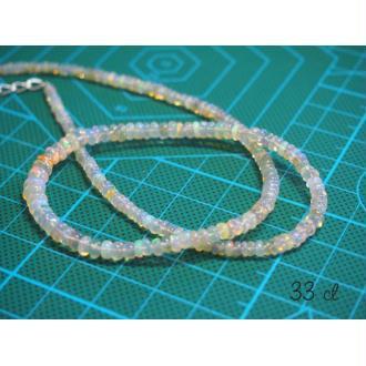 20 Perles Rondelles d'opale de Feu / opales Welo / opales d'Éthiopie 33 cts