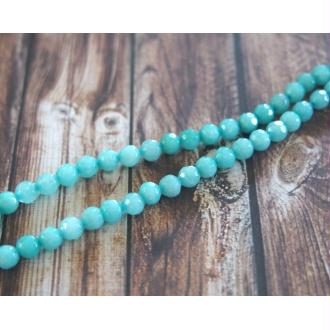 6 Perles d'aigue-marine à facettes 4-4,5mm