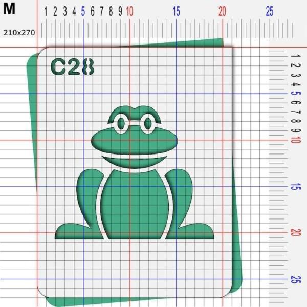 Pochoir grenouille - 4 tailles au choix - Photo n°4