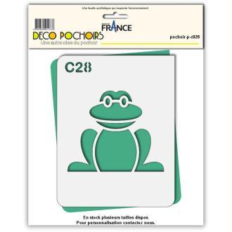 Pochoir grenouille - 4 tailles au choix