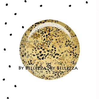 Cabochons en verre 25mm à coller chic,gold,noir,geometrique,or