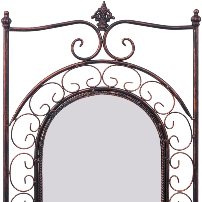 Vidaxl miroir sur pied us en fer antique noir miroir for Miroir en mosaique