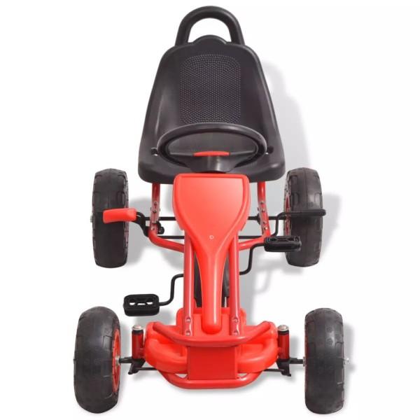 Vidaxl Kart À Pédales Avec Pneus Rouge - Photo n°3