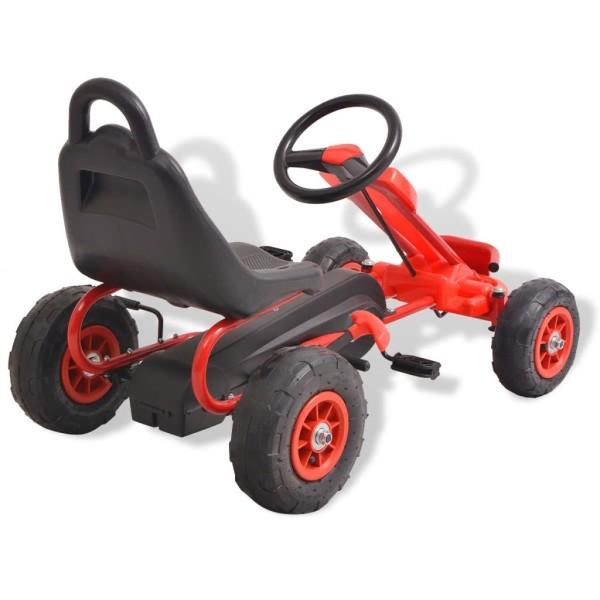 Vidaxl Kart À Pédales Avec Pneus Rouge - Photo n°4
