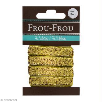 Ruban pailleté Frou-Frou - Doré - 1 m