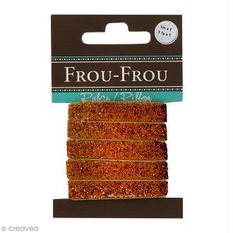 Ruban pailleté Frou-Frou - Cuivré - 1 m