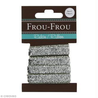 Ruban pailleté Frou-Frou - Argenté - 1 m