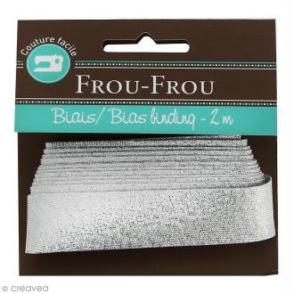 Biais brillant Frou-Frou - Argenté - 2 m
