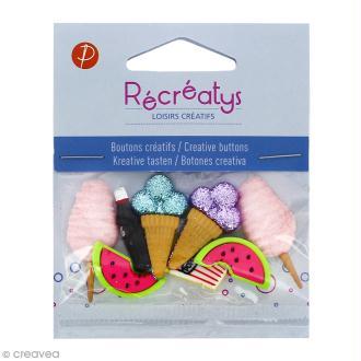 Boutons décoratifs - Snacks - 8 pcs