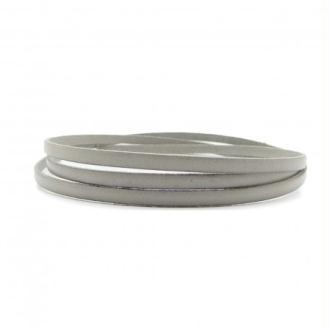 Lacet cuir plat 05mm gris perle (gris clair) - Europe - par 20cm