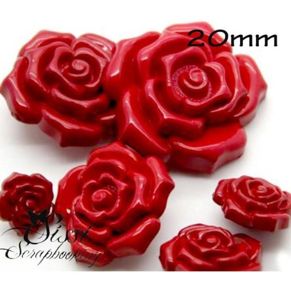 Lot 4 Maxi Boutons Fleur Rouge Enfant Rose Petale Mode Camelia