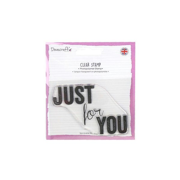 1 Maxi Tampon Bonheur Amour Just For You Que Pour Toi Clear Stamp Scrapbooking 9X6cm - Photo n°1