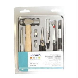 Coffret Tool Kit Outil Marteau Pince Tapis Pose Oeillet Scrapbooking Scrap Carte Artemio