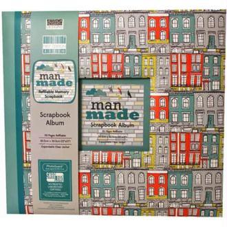 ALBUM DE SCRAPBOOKING MAN MADE RECHARGEABLE FEUILLES PAPIERS PHOTOS MARIAGE NAISSANCE 30 x 30 cm