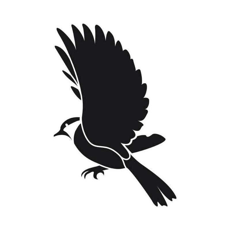 Pochoir animal oiseau en vol a4 deco home maison for Pochoir oiseau