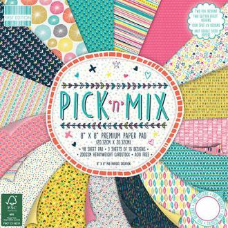 Lot 16 Feuille Papier Cardstock Pick N Mix Tons Acidules Multicolore 20X20cm 2016