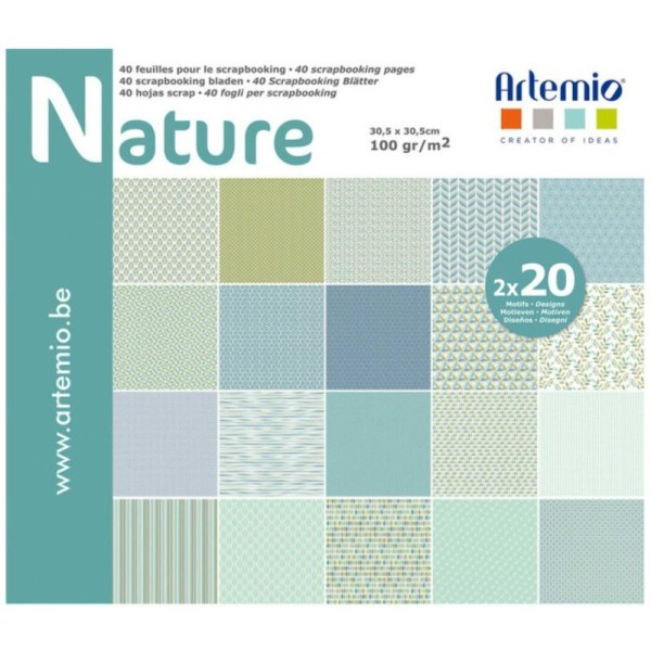 Papier Scrapbooking Artemio - Nature - 30,5 X 30,5 cm - 40 Feuilles Sissis Scrapbooking - Photo n°1