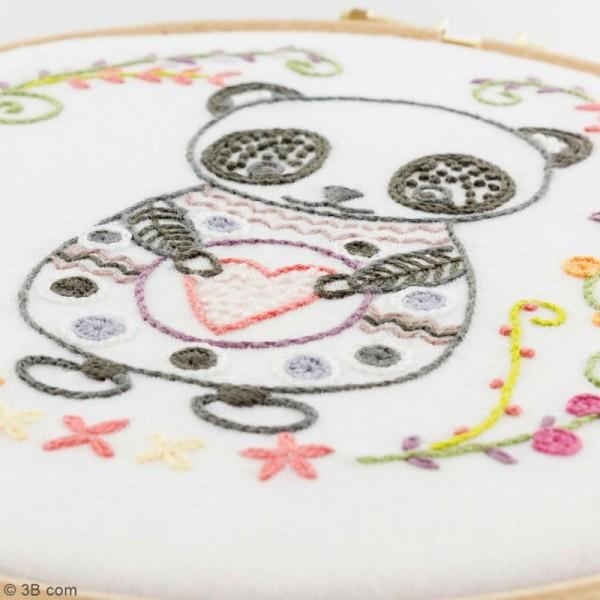 Kit broderie - Sacha le panda - Photo n°4