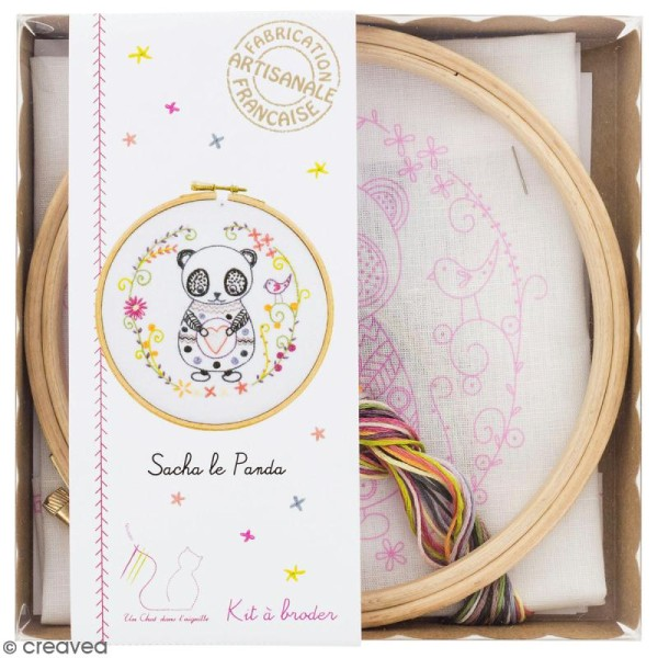 Kit broderie - Sacha le panda - Photo n°1