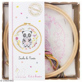Kit broderie - Sacha le panda