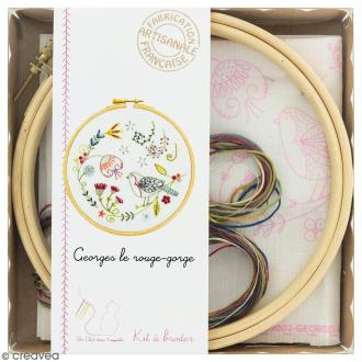 Kit broderie - Georges le rouge-gorge