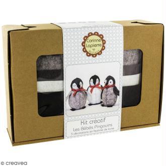 Kit feutrine - Bébés pingouins