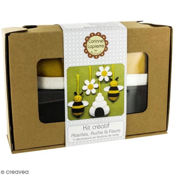 Kit feutrine - Abeilles ruches et fleurs - Photo n°1