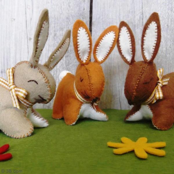 Kit feutrine - Trois p'tis lapins - Photo n°2