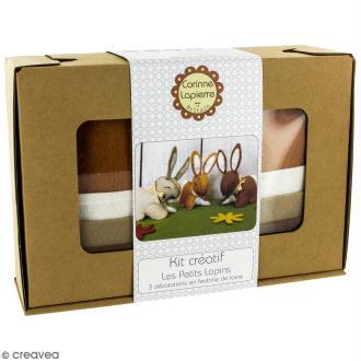 Kit feutrine - Trois p'tis lapins