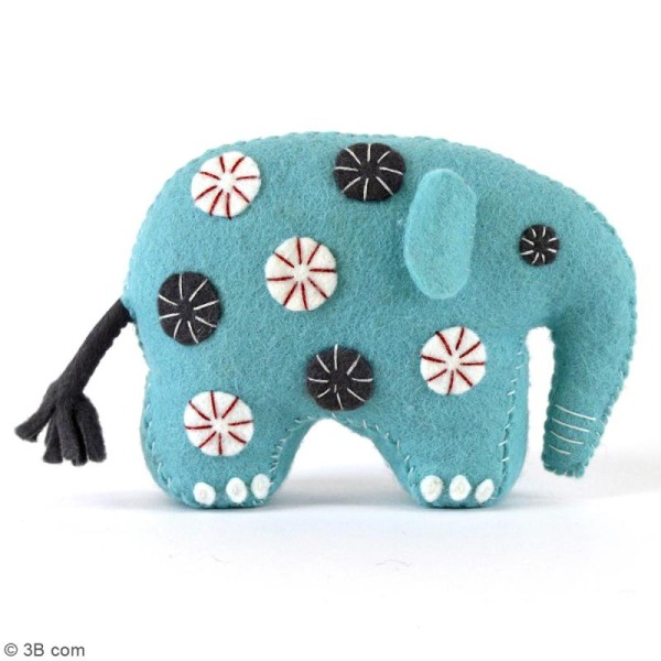 Kit feutrine - Elephant bleu - Photo n°2