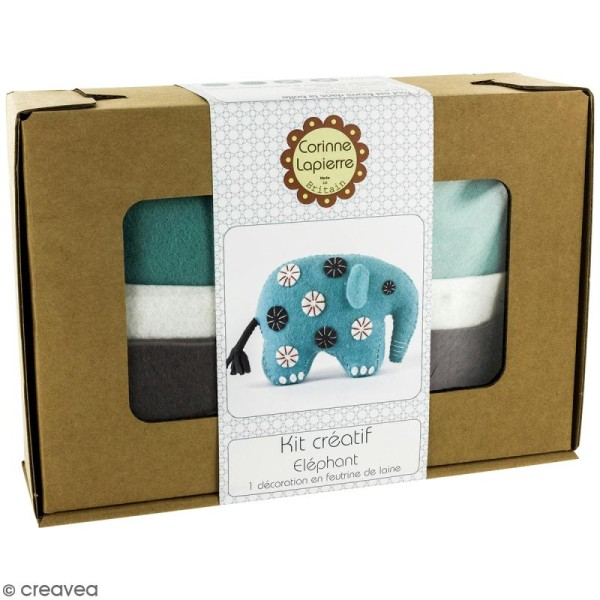 Kit feutrine - Elephant bleu - Photo n°1