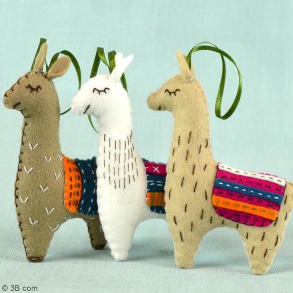 Kit feutrine - Les lamas - Photo n°2