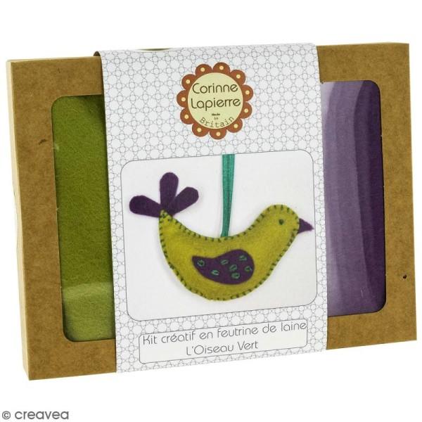 Mini Kit feutrine - L'oiseau vert - Photo n°1