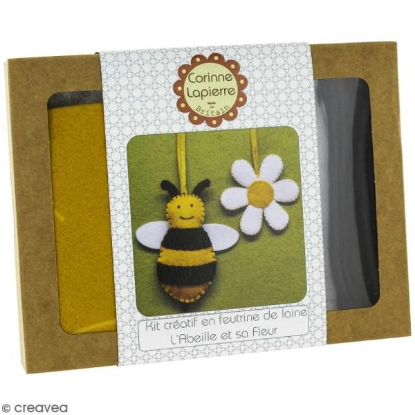 Mini Kit feutrine - L'abeille et sa fleur - Photo n°1