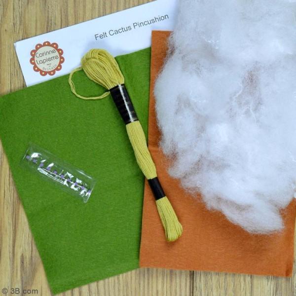 Mini Kit feutrine - Coussin à épingles cactus - Photo n°3