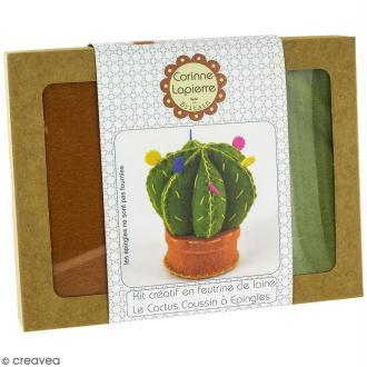 Mini Kit feutrine - Coussin à épingles cactus