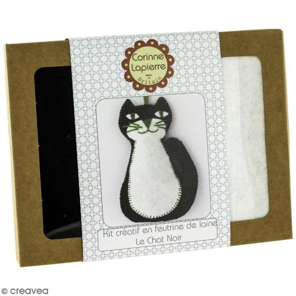 Mini Kit feutrine - Le chat noir - Photo n°1