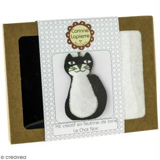 Mini Kit feutrine - Le chat noir