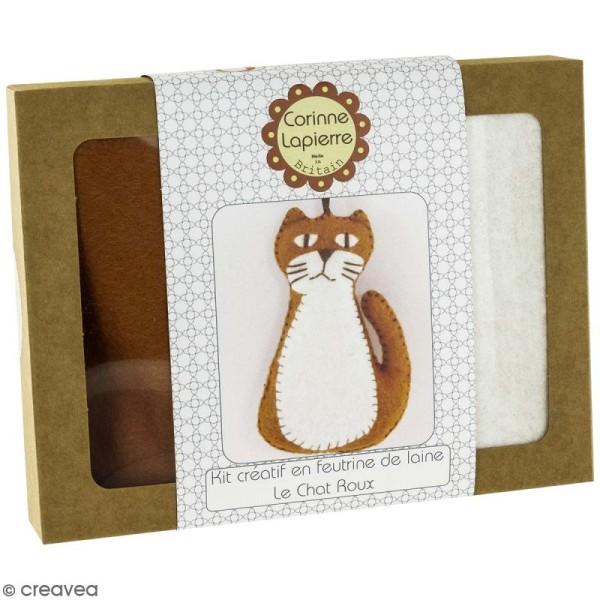 Mini Kit feutrine - Le chat roux - Photo n°1