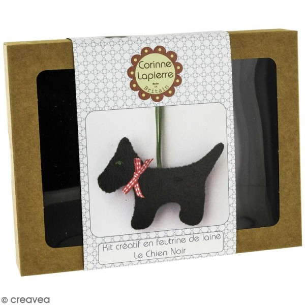 Mini Kit feutrine - Le chien noir - Photo n°1