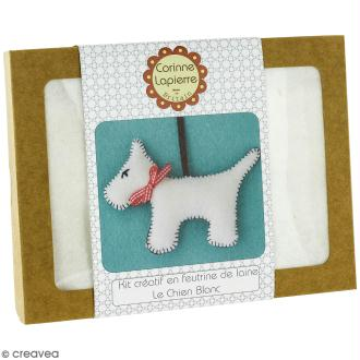 Mini Kit feutrine - Le chien blanc