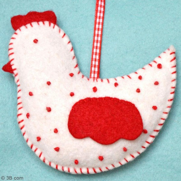 Mini Kit feutrine - La poule à pois - Photo n°2