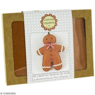 Mini Kit feutrine - Le bonhomme en pain d'épices