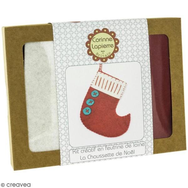 Mini Kit feutrine - La chaussette de Noël - Photo n°1