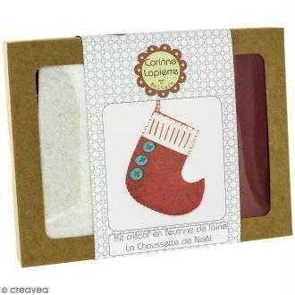 Mini Kit feutrine - La chaussette de Noël