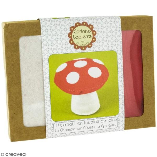 Mini Kit feutrine - Le champignon coussin à épingles - Photo n°1