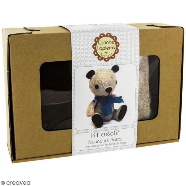 Kit feutrine - Teddy le nounours rétro - Photo n°1