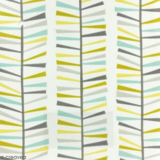Tissu Fryett's Toile cirée - Motifs géométriques  - bleu, vert, gris - Par 10 cm (sur mesure)