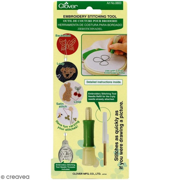 Set Punch Needle Clover - Outil de couture pour broderie - Photo n°1